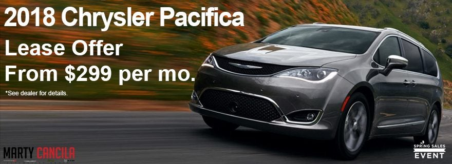 Chrysler Pacifica Lease >> New 2018 Chrysler Pacifica Lease Marty Cancila Dealer St Louis Mo